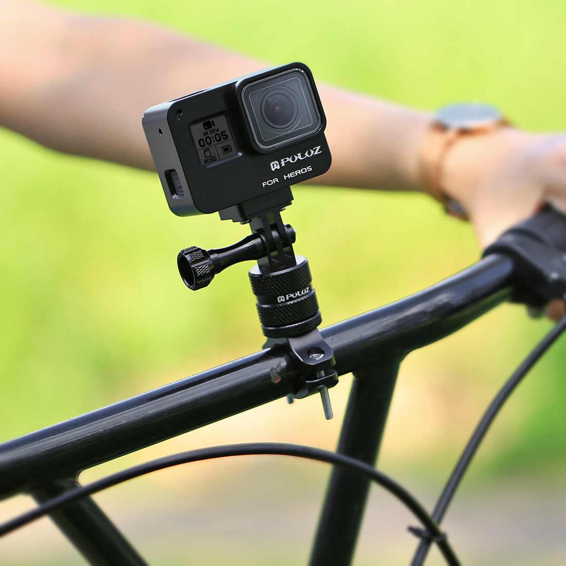 PULUZ 360 градусов вращения велосипед Алюминиевый адаптер для руля крепление с помощью винтов для GoPro NEW HERO/HERO7/6/5/5