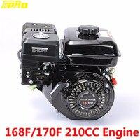 TDPRO 168F/170F 210CC 4 тактный двигатели для автомобиля карманный велосипед универсальный сад/отделка машины генератор газонокосилка Go Kart