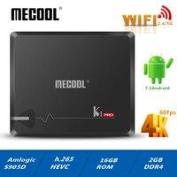MECOOL KI PRO DVB Android 7.1 smart TV Box DVB T2/DVB S2/DVB C Amlogic S905D Quad 2G+16G Support Set Top Box Clines PK KII PRO