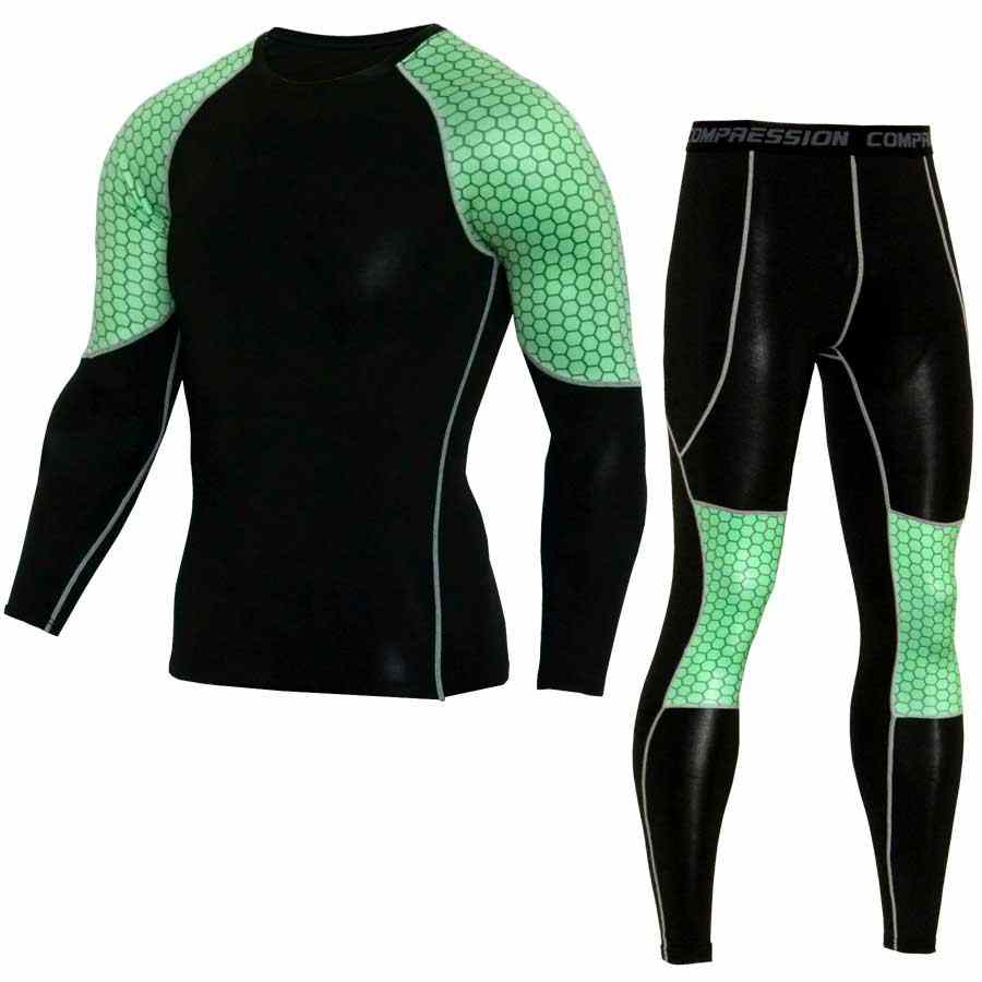 Men Compression Long Johns Fitness Winter Quick Dry Gymming Male Spring Autumn Sporting Sets Runs Workout Thermal Underwear V16