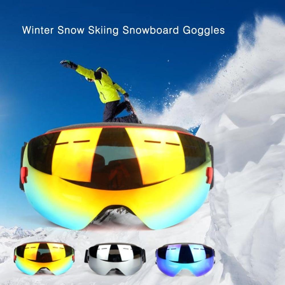 UV400 Comfortable TPU Winter Snow Skiiing Eyewear Cycling Goggles Dustproof Anti Fog Sunglasses Windproof Protect Glasses