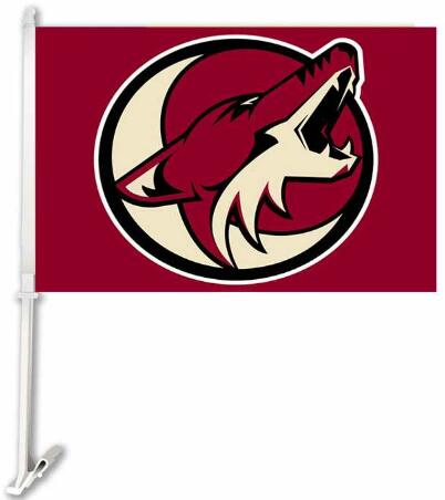 30x45CM Phoenix Coyotes car Flag window Car flag polyester Car decoration with flagpole Free Shipping