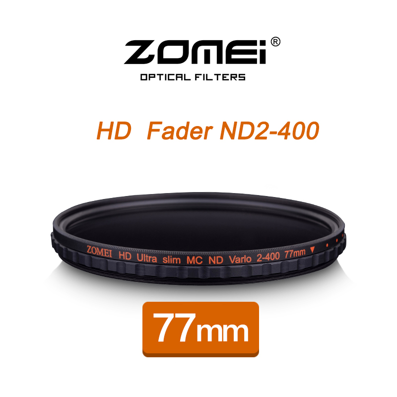 ZOMEI 77MM HD MC Adjustable Variable ND2-400 Filter Fader Neutral Density Optical Glass For DSLR Camera Lens цена