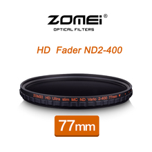 ZOMEI 77MM HD MC Adjustable Variable ND2-400 Filter Fader Neutral Density Optical Glass For DSLR Camera Lens