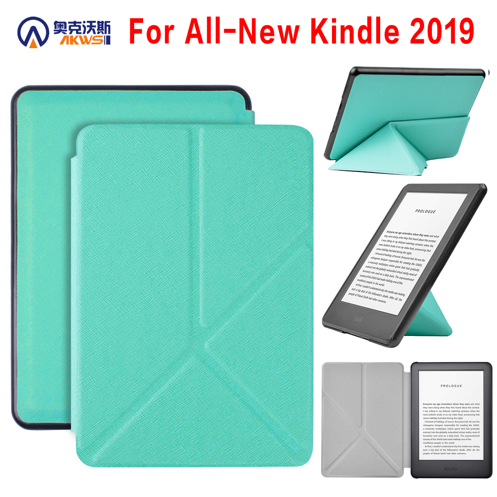 Walkers Origami Case For Kindle Touch 2019 For Amazon Kindle 10th 2019 Released J9G29R Smart PU Leather Case + Screen Protector