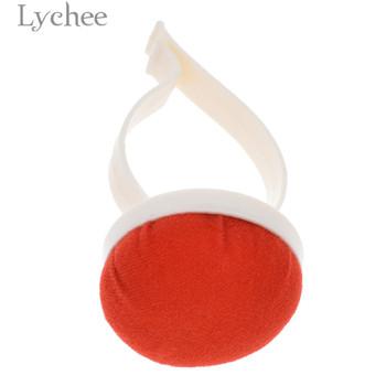 Lychee Life poduszka do igieł lub szpilek z plastikowym nadgarstkiem czerwona igła haft krzyżykowy Pad DIY Handmade przyrządy do szycia akcesoria tanie i dobre opinie embroidery CN (pochodzenie) Zestawy narzędzi Z tworzywa sztucznego