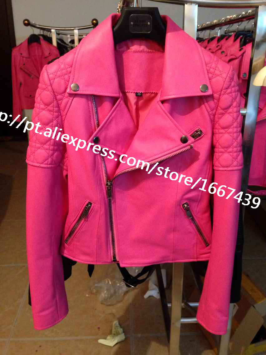 2015 women leather jackets and coats 100% genuine leather jacket