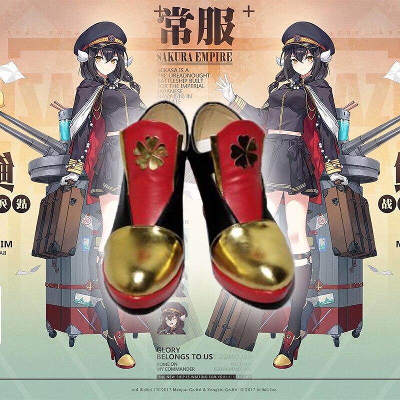 Game Azur Lane IJN Mikasa Cosplay  Azur Lane shoes Custom men's and women's cartoon shoes