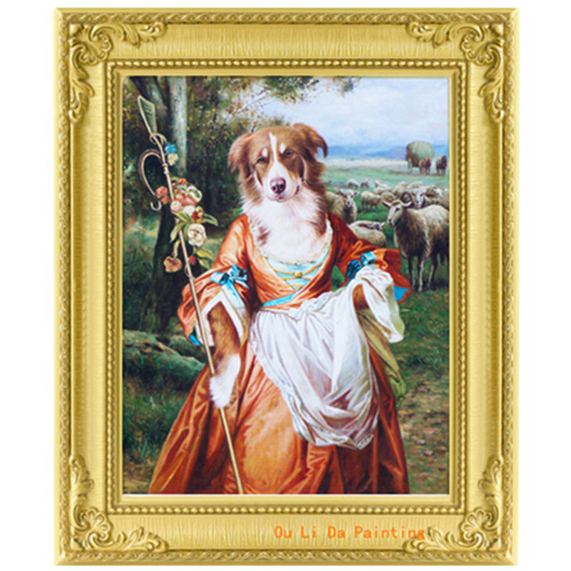 Aliexpresscom Buy Free Shipping Dog Dress Herding Sheep Landscape