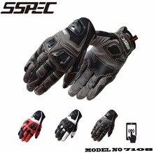 SSPEC novo verão respirável luvas de equitação da motocicleta todo-dedo luvas pode ser sensível ao toque drop-resistente a quebrar-resistente 3 cores