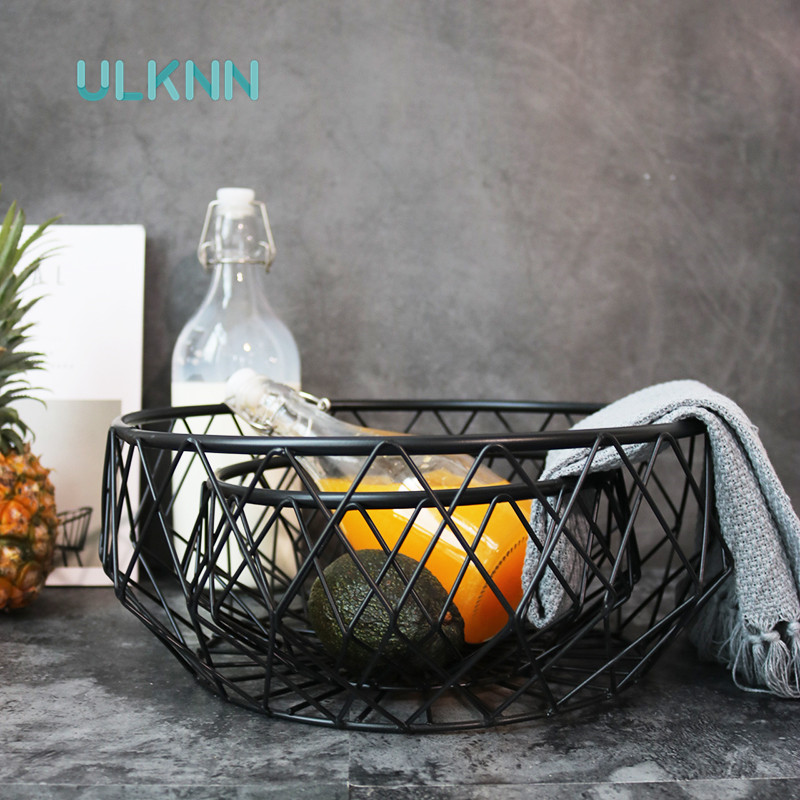 Japan Style Metal Storage <font><b>Baskets</b></font> with Handle Vintage Breads/Fruits <font><b>Baskets</b></font> Kitchen Sundries Storage Box Home Decor