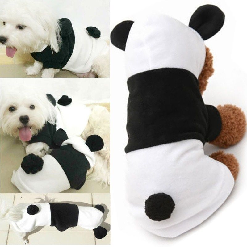 Fancy Costume Panda Style Pet Puppy Coat Apparel Outfit Clothes Dog Cat Hoodie