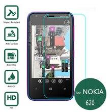 Для Nokia lumia 620 Закаленное стекло-Экран Протектор 0.26 мм 2.5 9 h Безопасности Защитную Пленку на lumia 620 телефон