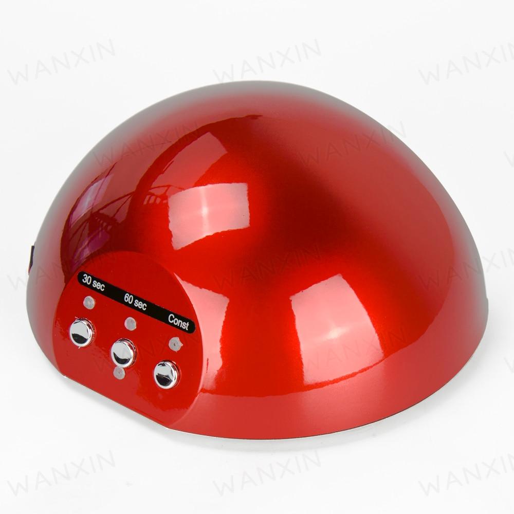 New Professional CCFL 18w LED Nail Gel Curing UV Lamp For Nail Polish EU AU US UK Plug Nail Polish Dryer Red