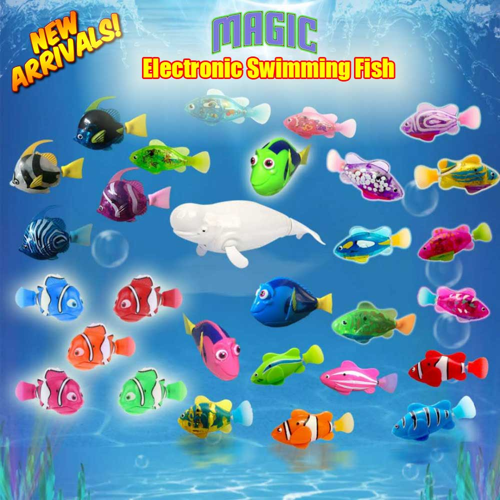 2019 New Funny Swimming Electronic Fish Activated Battery Powered Fishes Toy Fish Pet For Fishing Tank Decorating Toys