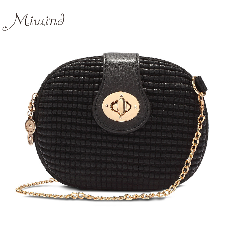 98f191b6088b women bag handbags tote over shoulder crossbody sling summer leather round  small chain Lock zipper phone