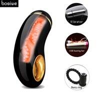 Male Masturbator Silicone Artificial Vagina,Vibrator for Men Aircraft Cup Vagina Real Pocket Pussy Sex Toys for Men Masturbation