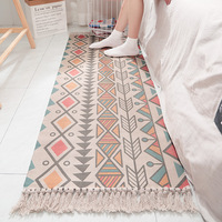 Cotton hand woven pad Indian national wind home living room bedroom bedside anti skid carpet tatami fluttering window mat soft