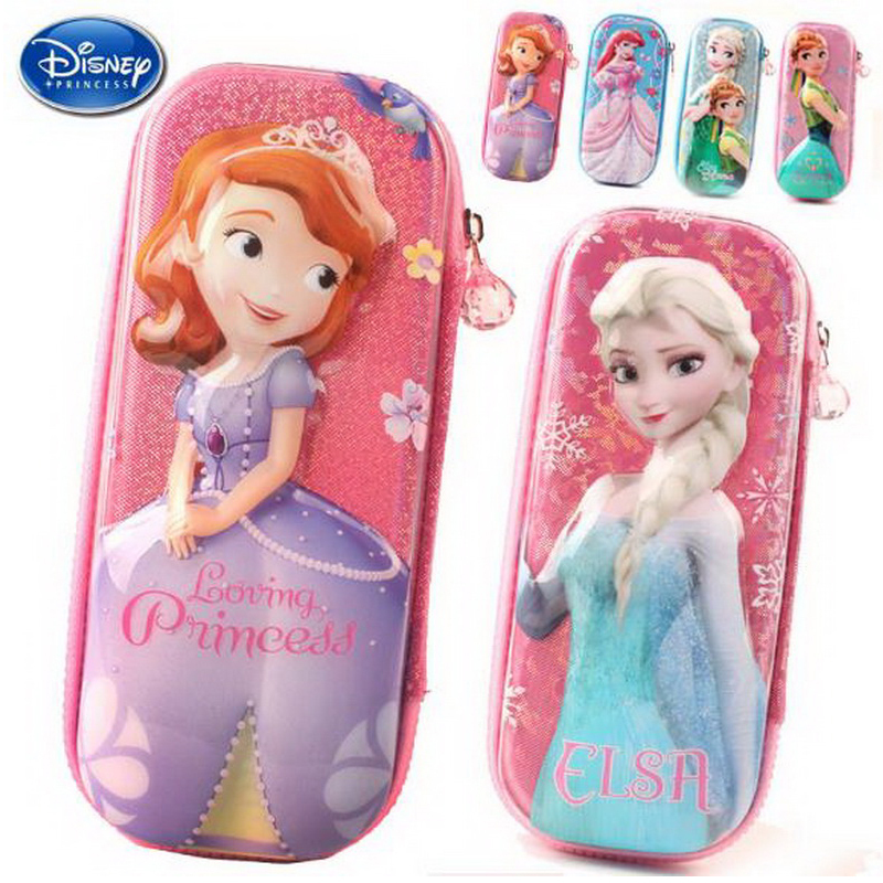 220904/Primary school students pencils female Disney ice and snow children cute pencil box simple large capacity pencil case 220909 school gifts boxes pupil men multifunctional creative disney child pencil box primary school student