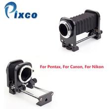 Pixco สำหรับกล้อง Nikon สำหรับ Canon โลหะมาโครเลนส์ขาตั้งกล้องขยายเลนส์ชุดสตูดิโอถ่ายภาพ