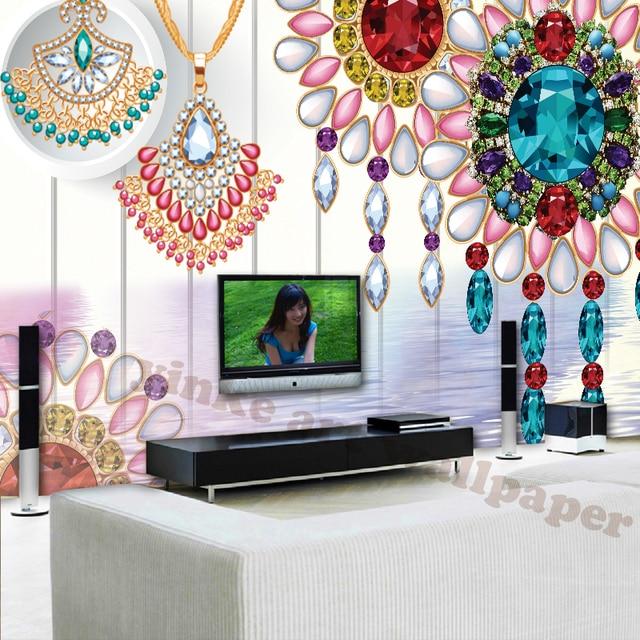 Maison De Luxe Decor 3d Stereoscopique Papier Peint Salon Photo