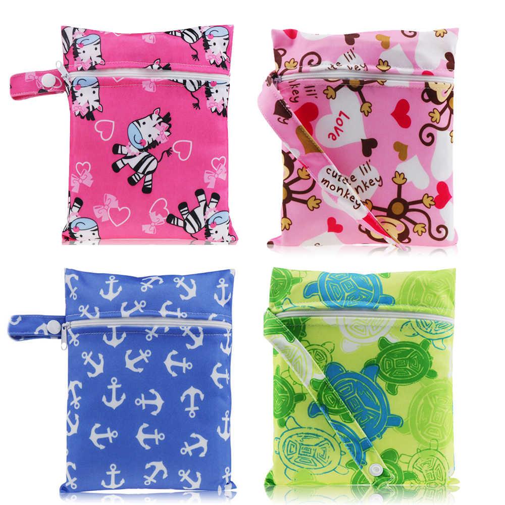 732385931e57 хранение прокладок Пеленки мешок Мокрый сумки Мини гигиенических прокладок  сумка висит Wetbag Водонепроницаемый ткань складная сумка