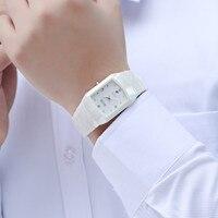 DALISHI Top Brand Male Quartz Watch White Color Fashion Ceramic Dress Watch Men Business Clock Waterproof Calendar Reloj Hombre