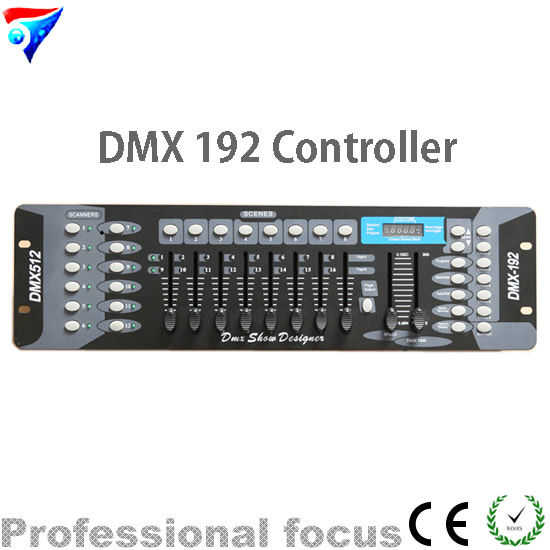 Free Shipping 192 DMX controller for stage light 192 channels for DMX512 DJ equipment