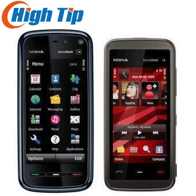 D'origine NOKIA 5230 téléphone, Débloqué Quad-bande, 2.0MP caméra, GPS téléphone, 3.2 Écran, FM, Rénové Livraison gratuite