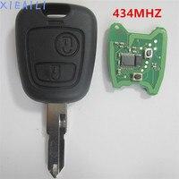XIEAILI 2 Düğme Transponder Uzaktan Anahtar Kumanda 434 MHZ Elektronik 46 Chip Ile Peugeot 206 Için Hiçbir Pil S012