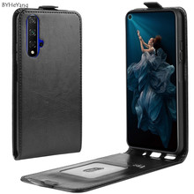 For Huawei Honor 20 Pro Case 20pro cover Flip Luxury Wallet PU Leather Cover Phone Case For Honor 20 Pro Vertical With Card Slot honor 20 pro honor 20 flip case nillkin qin flip leather cover for huawei honor 20 pro case wallet phone case with card pocket