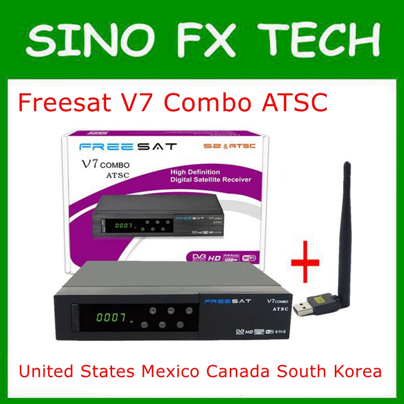 freesat V7 combo atsc powervu Youtube DVB-S2 ATSC satelite receiver for United States Mexico Canada South Korea tv tuner
