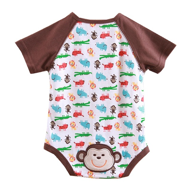 New 2016 Summer Baby Boys' Bodysuits Overall Jumpsuit Roupas Meninos Macacao Ropa Bebe Body Baby Boy Clothes Infant Clothing