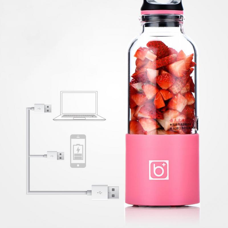 500 ml Électrique Presse-agrumes Tasse Mini Portable USB Rechargeable Presse-agrumes Mélangeur Maker Shaker Presse-Fruits Orange Extracteur De Jus