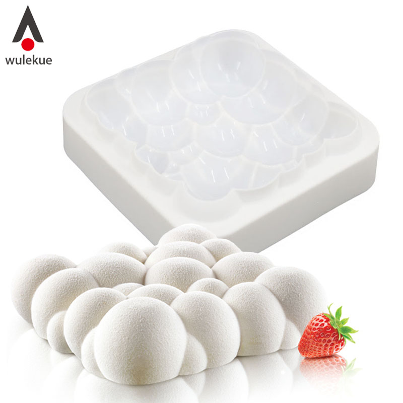 Wulekue 1 PCS Silikon 3D Himmel Wolke Form Kuchen Dekorieren Backen Werkzeuge Für Schokolade Mousse Chiffon Gebäck Kunst Mould