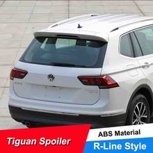 JNCFORURC High Quality ABS Plastic Car Spoiler Wings For VW Tiguan L 2018 Painted Color Rear Roof Spoilers