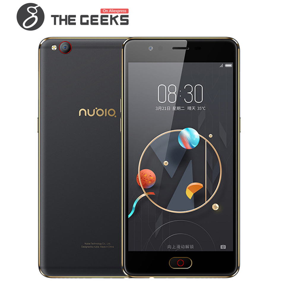 ZTE NUBIA 5.5 pouce Cellulaire téléphone M2 LITE 3 gb + 64 gb ROM/M2 4 gb + 64 gb/4g + 128g ROM 2.5D Verre AMOLED FHD Écran Android 4g Smartphone