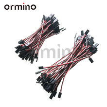 ORC 10Pcs Servo Lead Extension Male to Male 10cm 15cm Wire Cable For JR Futaba Fpv Rc Helicopter Drone Quadcopter Diy Cable jr female to female connection cable for futaba servo black white red 13cm
