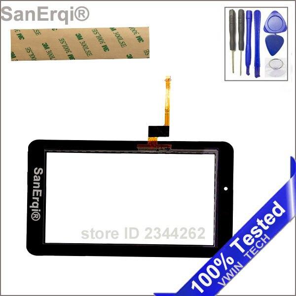 Pour Huawei Mediapad 7 Jeunesse 2 S7-721U S7-721 Écran Tactile Digitizer Verre Panneau Objectif 7 Pouce Livraison 3 m Bande SanErqi