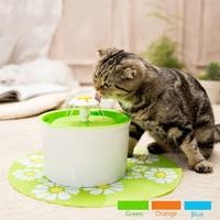 Automatic 1.6L Cat Fountain Pet Feeder Flower Style Pet Bowl Drinking Fountain Cat flower Drink Dish Filter Cat Water Dispenser