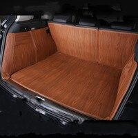 Full Cover Wood Grain Waterproof Boot Carpets Durable Custom Car Trunk Mats for Volkswagen EOS UP Polo Sharan C TREK Touareg