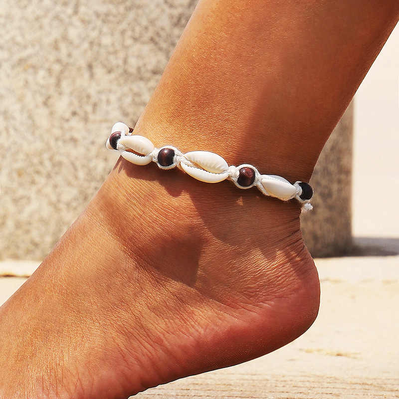 Boho Starfish Turtle Shell Cowrie Anklets for Women Silver Ankle Bracelet on Leg Beach Seashell Anklet Chain Summer Foot Jewelry