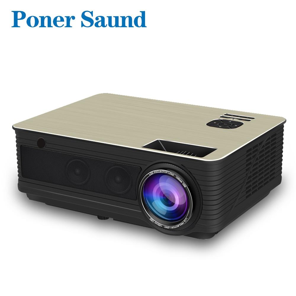Poner Saund M5 Full HD LED Projecteur 4500 Lumens En Option Android 6.0 WiFi Bluetooth Soutien 1080 P Beamer HDMI Vidéo proyector