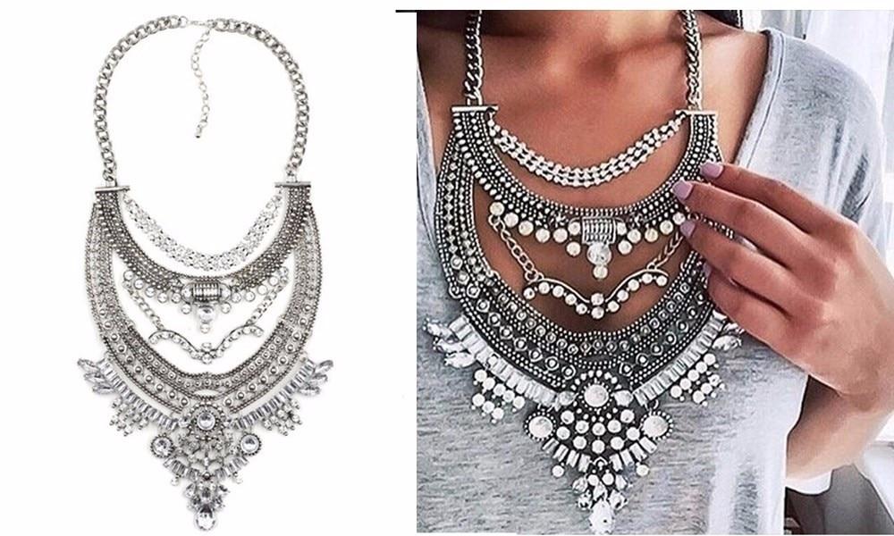 Ztech 18 Women Necklaces & Pendants Vintage Crystal Maxi Choker Statement Collier Femme Boho Big Fashion Jewellery Wholesale 3