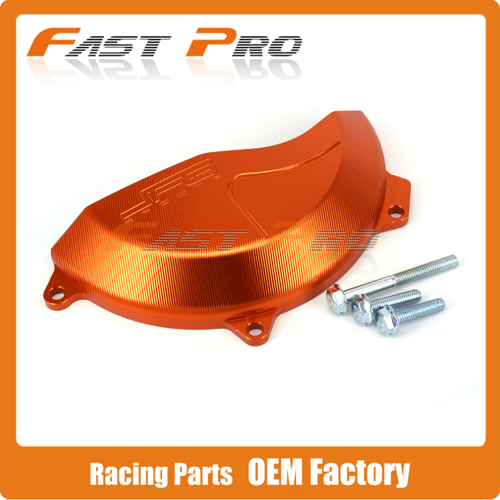CNC Right Side Engine Case Cover Protector Guard For KTM SXF450 SX-F450 2016 2017 EXC-F450 EXC-F 450 17 Motorcycle silencer exhaust protector can cover for ktm exc f exc sx f 450 sx f 350