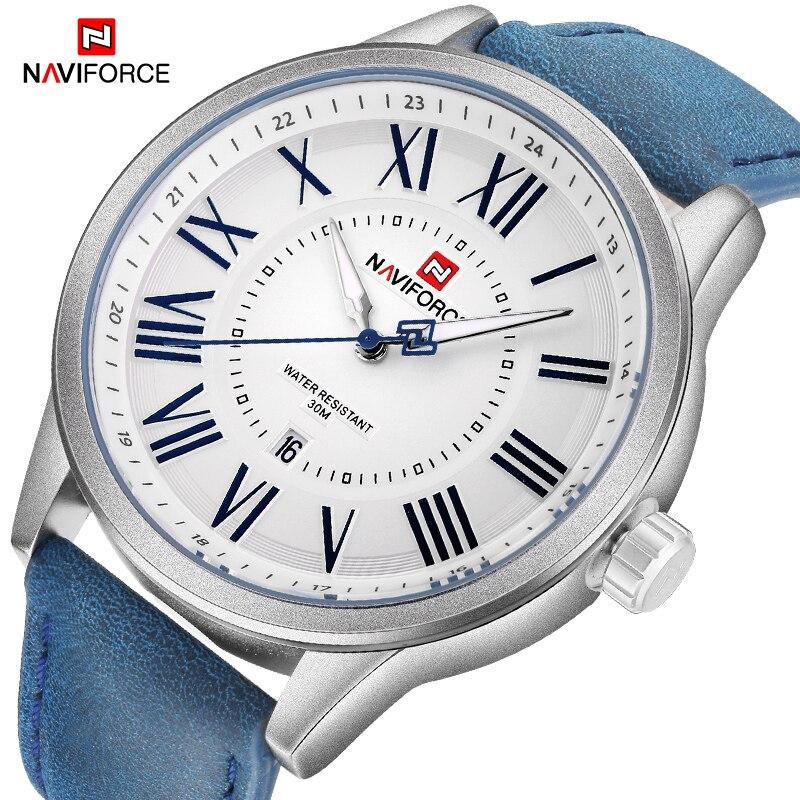 NAVIFORCE Men's Fashion Casual Creative Watch Men Sport Waterproof Army Wristwatch Male Quartz Clock Watches Relogio Masculino