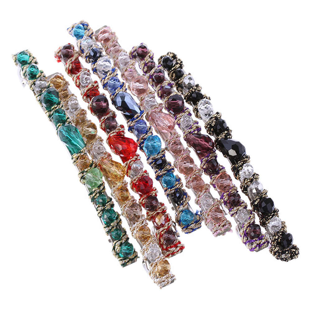 2020 chaud élégant cheveux accessoires femmes coréen cristal strass épingle à cheveux dame belle brillance Barrette vêtements de cheveux fille pince à cheveux
