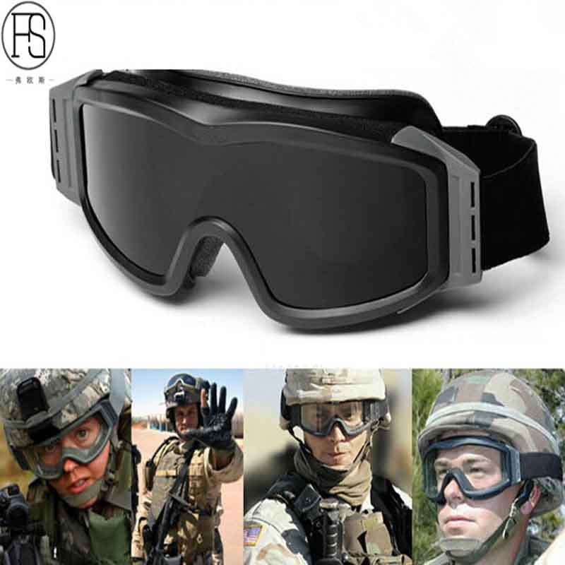 52c529b9c538 New Military Tactical Goggles Shooting Airsoft Eyewear Climbing Camping  Glasses Windproof Dustproof Eye Protective Sunglasses