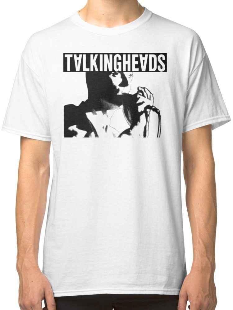 Элио Talking Heads Для мужчин белая футболка Костюмы для человека битник О образным