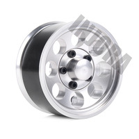 "INJORA 4Pcs 1.55"" Aluminum Wheel Tires 1.55 Inch Tyre for RC Crawler Car D90 TF2 Tamiya CC01 MST JIMNY Axial AX90069 6"
